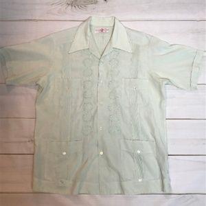 Vintage Shirts - Vtg Men's Mexican Wedding Shirt Short Sleeve XL